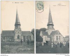 Lot De 2 Cartes De  SARCUS    ( église ) ( Recto Verso ) - Autres Communes
