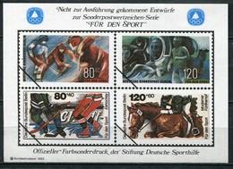 """Cinderella Vignette Deutsche Sporthilfe Entwürfe """"Für Den Sport"""" - Draft For Sports Series 1983 - Eishockey"""