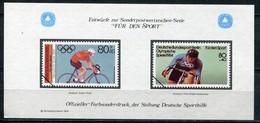 """Cinderella Vignette Deutsche Sporthilfe Entwürfe """"Für Den Sport"""" - Draft For Sports Series 1983 - Cycling"""