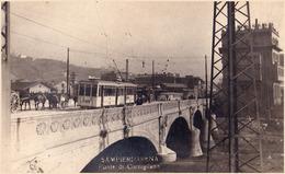 SAMPIERDARENA : PONTE Di CORNIGLIANO - TRAM / TRAMWAY - CARTE VRAIE PHOTO / REAL PHOTO POSTCARD ~ 1910 - '920 (ae259) - Genova (Genoa)