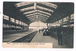 FR-4134   METZ : Bahnsteig Und Einfahrtshalle Im Neuen Bahnhof ( La Gare ) - Metz