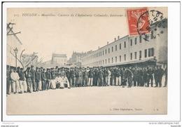 Carte De TOULON  Mourillon Caserne De L' Infanterie Coloniale   ( Recto Verso ) - Toulon