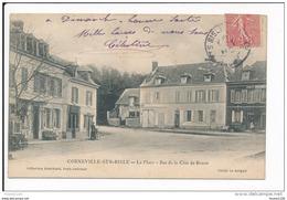 Carte De  CORNEVILLE SUR RISLE  La Place Bas De La Côte De Rouen    ( Recto Verso ) - Francia