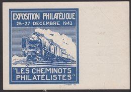 Carte Entier Interzone Repiquée 1f20c Type Hourriez Oblt A4 EXPon PHILque PARIS GARE St LAZARE 27-12-42. - Trains