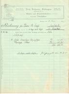 """SOLINGEN Rechnung 1911 Deko """" Fritz Rahmer BÜRSTEN- PINSEL- Zündhölzerfabrik """" - Droguerie & Parfumerie"""
