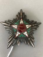 MAROC : ORDRE Du OUISSAM ALAOUITE, Argent, Vermeil Et émail, 1er Type, Belle Patine - Médailles & Décorations