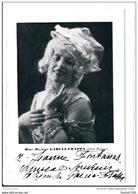 Carte Photo Mme Olympe GARCIA FRAPPA Dans Manon ( Avec Autographe Dédicace ) Opéra Comique - Dédicacées