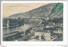 Carte  Le Lot Illustré  Castelfranc  Le Pont Suspendu  ( Recto Verso ) - France