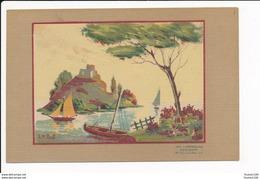 Carte Toilée  Dessin  Illustrateur  Pinetti Imp Lumineuse Radiana ( Recto Verso ) - Illustrateurs & Photographes