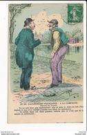 Carte Dessin Illustrateur à Identifier ( Style Jarry ) Gauloiseries Françaises à La Campagne ( Resto Verso ) - Illustrateurs & Photographes