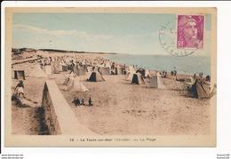 Carte De La Faute Sur Mer Plage  ( Recto Verso ) - France