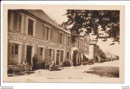 Carte De Salbris Café De La Gare  ( Pompe à Essence )( Recto Verso ) - Salbris
