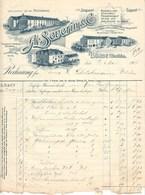"""Bünde I W 1908 Besonders Deko """" A.SEVERIN Alt - Haldensleben Steingut Porzellan """" - Allemagne"""