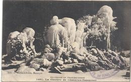 EXCURSION EN FRANCHE-COMTE .1491. LA GLACIERE DE CHAUX-LES-PASSAVANT. AFFR LE 4-7-1914 AU VERSO . 2 SCANES - France