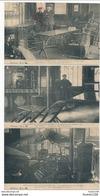 RARE Lot / Série De 3 Cartes De VILLENEUVE SAINT GEORGES INONDATIONS DE JANVIER 1910 AU CAFE PETIT ( Intérieur Poële ) - Villeneuve Saint Georges