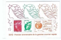 FRANCE 2012:  Bloc De 3 TP Marianne - Blokken En Velletjes