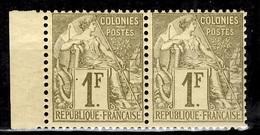 Colonies Générales YT N° 59 En Paire Neufs ** MNH. Très Belle Gomme D'origine. TB. A Saisir! - Alphée Dubois