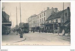 Carte De SAINT DENIS La Rue De Paris Au Barrage ( Tramway )   ( Recto Verso ) - Saint Denis