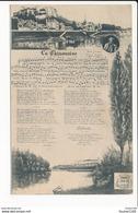 Carte  De Chinon  La Chinonaise  Chanson  ( Recto Verso ) - Chinon
