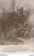 Carte Militaire Patriotique Nos Fusiliers Marins  à Ypres Dessin Charles Fouqueray ( Combat ) - Patriottiche