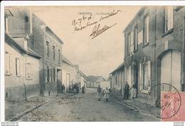 Carte De CHEPOIS La Grande Rue   ( Recto Verso ) Les 3 Feuillets Se Décollent En Haut De La Carte - Francia