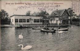 ! Alte Ansichtskarte Gruss Aus Quedlinburg, Schwanenteich, 1912 - Quedlinburg