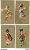 LOT / SERIE De 8 Chromos Chinois Chinoise  Le Jongleur La Perruche Les Bulles De Savon L' écran Le Miroir Porteur D'eau - Chromos