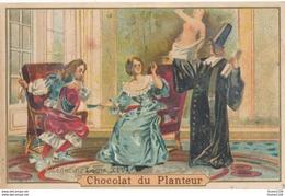 Chromo Médecin Louis XIV CHOCOLAT DU PLANTEUR  ( Recto Verso ) état Moyen - Autres