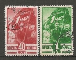 RUSSIE -  Yv N° 1339,1340  (o)  1er Mai Cote  6,5 Euro  BE   2 Scans - 1923-1991 UdSSR