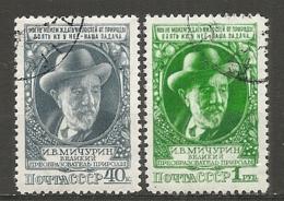 RUSSIE -  Yv N° 1346,1347  (o)  Agronome Michourine Cote  5 Euro  BE   2 Scans - 1923-1991 UdSSR