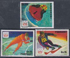 Paraguay PA  N° 702 / 04  O Jeux Olympique D' Hiver à Innsbruck, Les 3 Valeurs Oblitérées, TB - Paraguay