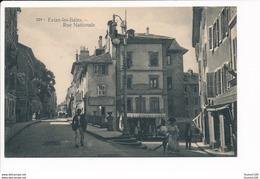 Carte D' évian Les Bains Rue Nationale ( Aux Docks Chaussures Modernes )( Recto Verso ) - Evian-les-Bains