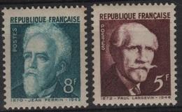 FR 1242 - FRANCE N° 820/21 Neufs** Paul Langevin Et Jean Perrin - France