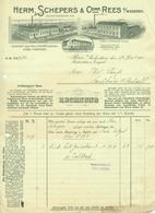 """REES Niederrhein 1911 Rechnung Deko """" H.Schepers & Co Edamer Gouda Käsefabriken """" - Food"""