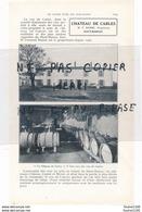 Page D'annuaire De 1925 Vin CHATEAU BROUSTET Supau à BARSAC / CHATEAU DE CARLES Barbe à HAUT BARSAC - France