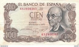 Billet  De Banque  Espana  100 Pesetas - [ 3] 1936-1975 : Regency Of Franco