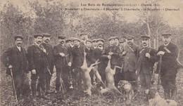 28. DANGEAU. CPA . RARETÉ. LES BOIS DE DANGEAU. ANIMATION. TABLEAU DE CHASSE DE 1911. + TEXTE - France