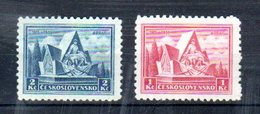 1935  Legion Tchecoslovaque Y 296 -297 **    Mi 336 -337 ** - Unused Stamps