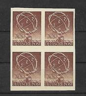 TIMBRE D'ALLEMAGNE BERLIN. N° 57 . NEUF. 20p ROUGE-BRUN. BLOC DE 4. COTE + 480€. FAUX. - [5] Berlin