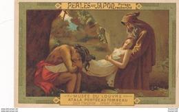 Chromo Potage PERLES DU JAPON Musée Du Louvre Tableau école Française Atala Au Tombeau Girodet Né à Montargis - Chromos