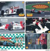 Lot Série De 6 Télécarte Japon Carte Téléphonique Formule 1 F 3000 Racing Mobil 1 Shell Sport Auto Grand Prix - Sport