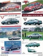Lot Série De 16 Télécarte Japon Je Pense Carte Téléphonique Car Voiture Auto Marque HONDA Gathers Civic Accord Odyssey - Voitures