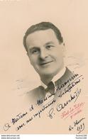 Carte Photo Dédicacée Autographe Acteur Opéra Signature à Identifier Le Havre 1939 - Dédicacées
