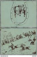 Menu Banquet De La Sainte Barbe  1893 ( Course Hippique Illustrateur G. Séguy ) - Menus