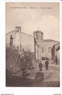 Carte De Saint Sauveur Givre En Mai Le Rue De L' église  ( Recto Verso ) - Francia