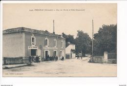 Carte De Prechac Rue De L' école ( Hôtel Café Beaumont / Auto Garage ) - Francia