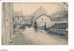 Carte De Poitiers Inondation Du 16 Février 1904  Le Pont Saint Cyprien  ( Recto Verso ) - Poitiers