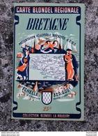 Carte Blondel Régionale Bretagne échelle 320 000e ( Collection Blondel La Rougery ) - Roadmaps