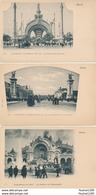Lot 3 Cartes Exposition Universelle De 1900 Paris La Porte Monumentale Pont Alexandre III Palais De L'électricité - Expositions