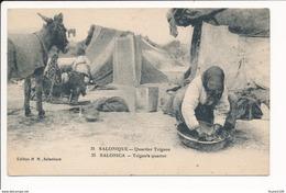 Carte  De Salonique Quartier Tzigane  ( Recto Verso ) - Greece